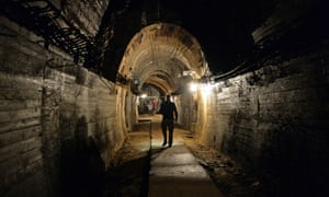 The underground galleries of Nazi Germany's 'Project Riese' construction project under the Ksiaz castle in Walbrzych, Poland.