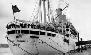 Empire Windrush 28th March 1954: The British liner 'Empire Windrush' at port. (Photo by Douglas Miller/Keystone/Getty Images)