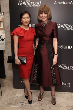 Janice Min and Anna Wintour in New York in 2015.