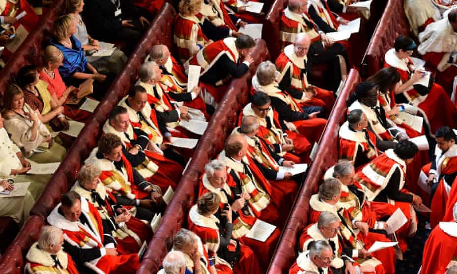 Peers and guests in the House of Lords