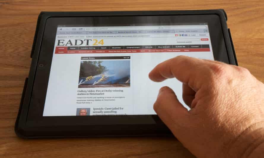 East Anglian Daily Times website