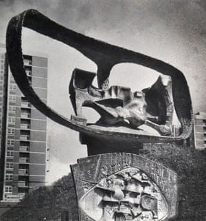 Ken Ford's Symbol of Rebirth at the Cruddas Park housing estate in Newcastle, 1961.