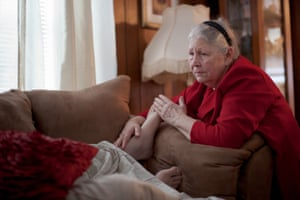 Final hours … Wolford's mother comforts her son.