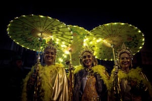 Verín, Spain: Revellers celebrate Xoves Comadres during a carnival. On this night women are given ownership of the streets