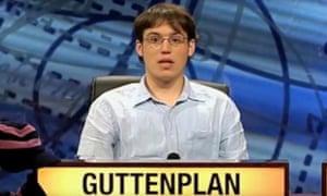 Alex Guttenplan on University Challenge.