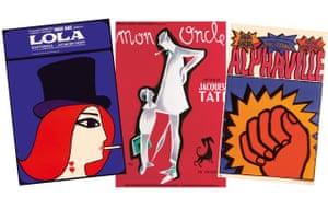 L-r: Lola (1961) by Maciej Hibner (Poland), Mon Oncle (1958) by Pierre Étaix (France), Alphaville (1965) by Andrzej Krajewski (Poland).
