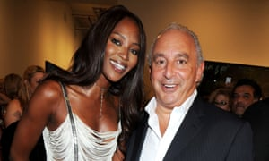 Naomi Campbell and Sir Philip Green