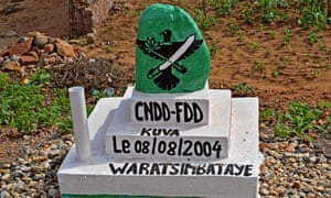 A monument built by Burundi's ruling CNDD-FDD party