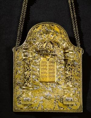 An important Torah shield attributed to Elimelekh Tzoref of Stanislav, circa 1780.