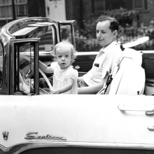 Susan Faludi in her father's car in New York City, early 1960s.
