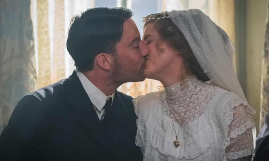 Before the storm … Kevin Guthrie and Agyness Deyn in Sunset Song.