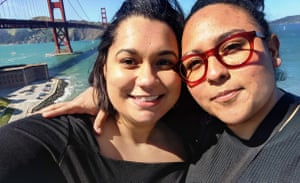 Caché Owens, left, and Cynthia Velásquez met on Personals.