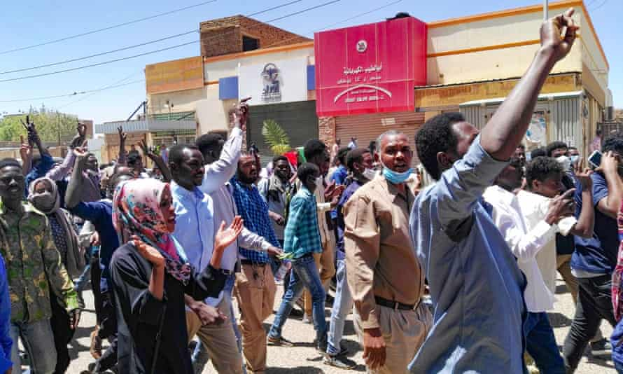 An anti-government demonstration in Khartoum.