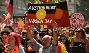 An Invasion Day rally in Melbourne