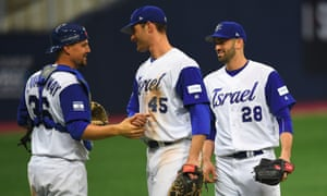 Israeli catcher Ryan Lavarnway (left) has kicked around the edges of the majors for many years. His team's wins at the World Baseball Classic still count as upsets.