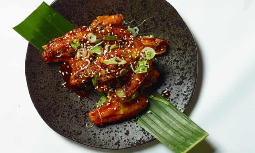 'A six-napkin job': crispy chicken wings.