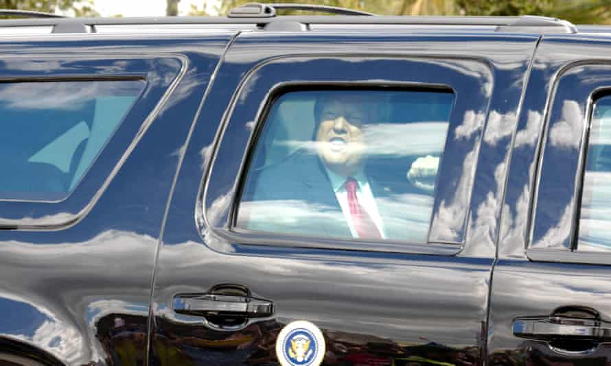 Donald Trump heads to his Mar-a-Lago property in late January.