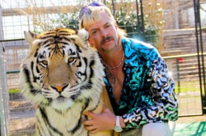 Joe Exotic with one of his tigers.
