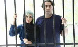 Iranian poets Mehdi Mousavi and Fatemeh Ekhtesari who have been sentenced to a total of 20 years in jail.