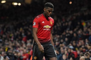 Pogba eventually walks on a disappointing night for him and his team.