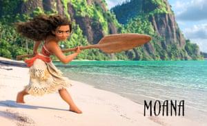 Moana, the hero of Disney's new movie.