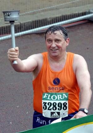 Graham Taylor in the London Marathon
