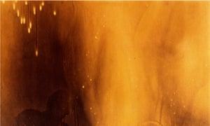 © Yves Klein's Peinture de feu sans titre (1961, detail)