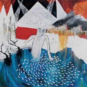Trade Center, acrylic on canvas, 2000 by Stanley Donwood