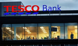 Edinburgh headquarters of Tesco Bank, which has halted online payments for current account customers after money was taken from 20,000 accounts.