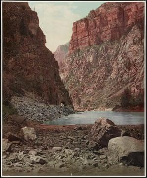 The Colorado River in Glenwood canyon, western Colorado