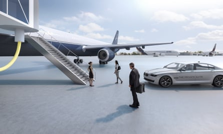 At the Private Suite, LAX's private terminal for the mega-rich, a BMW will drive guests directly to their flight.