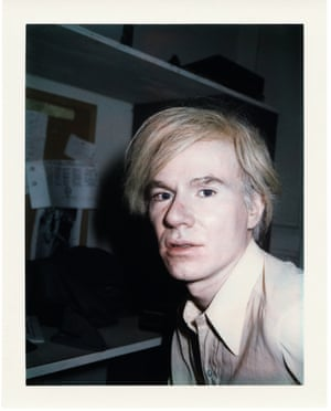 A Polaroid portrait of Andy Warhol by Brigid Berlin. She had an intimate friendship with the artist.