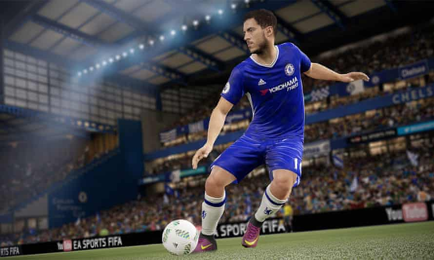 Screenshot of Eden Hazard in Fifa 17.