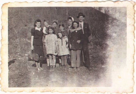 Ruzena, back row, third from right, with her family in Bhutz in what was then Czechoslovakia, before she was taken to Auschwitz.