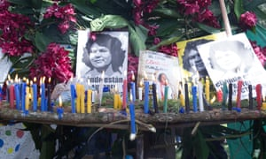 Berta Cáceres is remembered at a ceremony in Rio Blanco, the area she fought to protect from a mining development before she was murdered