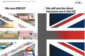 A post-Brexit advert for Eldon Insurance.