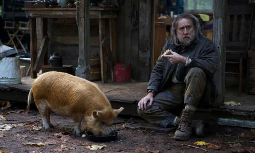 Nicolas Cage and his truffle-hunting friend in Pig