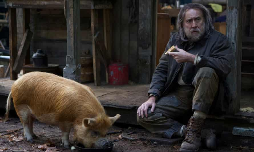 Put a pork in it ... Nicolas Cage (right) in Pig.