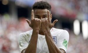 England's Jesse Lingard celebrates after scoring.