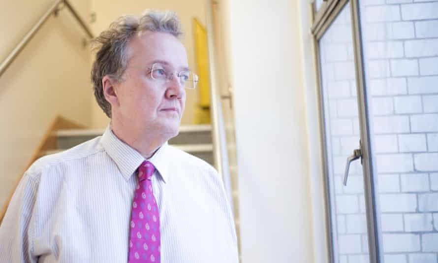 Nick Hardwick gazes out of a window