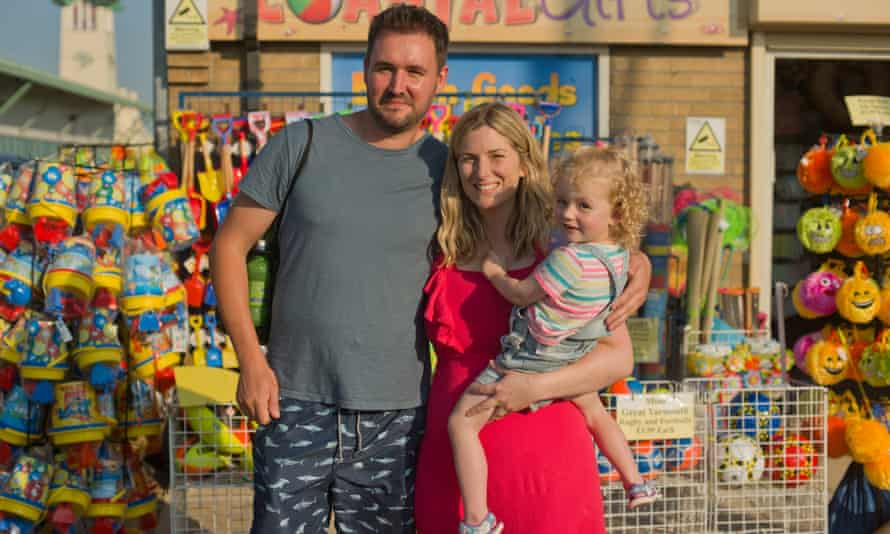 Vox pop subjects, Ben and Kate Atkinson with their daughter, Grace.