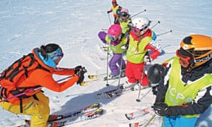 ski lessons at Les Contamines