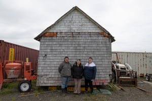 Three generations: (from left) Lillionna Kosbruck, Annie Christensen and Gerda Kosbruck in Port Heiden, Alaska