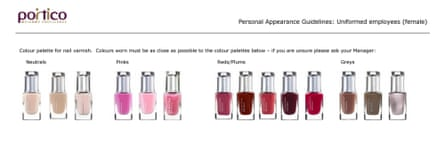 Portico personal appearance guidelines for employees