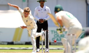 Sam Curran, bowling in the second Test in Cape Town, may not have a Test match five-for but he has a habit of dismissing top-order batsmen.