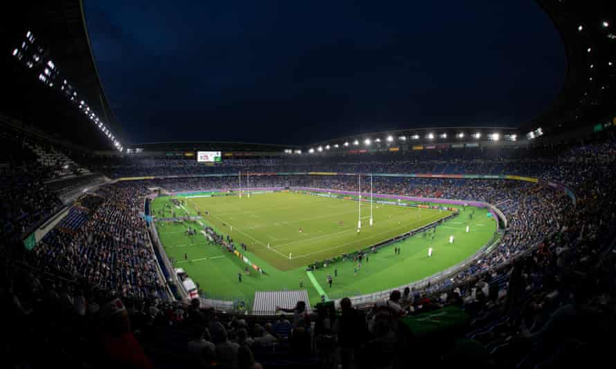 The Rugby World Cup final at International Stadium Yokohama in 2019. Plans have been announced to extend the 2023 World Cup in France by a week.