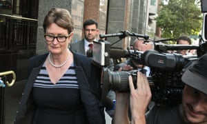 Commonwealth bank chair Catherine Livingstone leaves the royal commission hearing in Sydney this week.