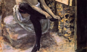 Detail from Pierre Bonnard's Woman in black stockings, 1900.