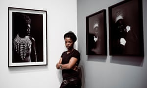 Muholi at her new exhibition.
