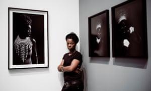 Muholi at her new exhibition.